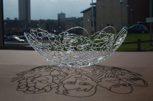 Folks! - Lampwoked borosilicate glass by Ayako Tani