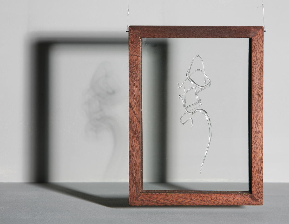 Ghost - calligraphic glass by Ayako Tani