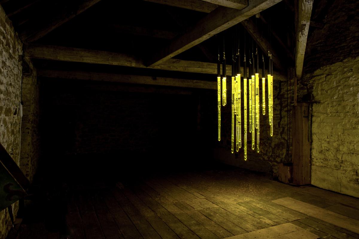 predawn light at Cheeseburn hayloft